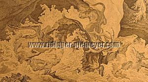 Johann Elias Ridinger, 1678er Hirsch bei Neuburg/Donau (Detail)