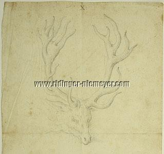 Stag of Odd 18 Points (detail drawing)