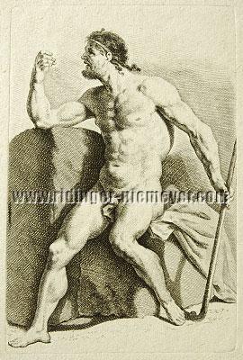Johann Elias Ridinger, Stehender Akt