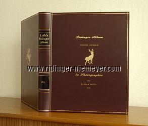 Johann Laifle, Ridinger-Album mit 50 originalen Albumin-Abzügen