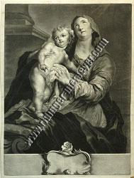 Johann Elias Ridinger, Mary with the Child at the Ionic Column