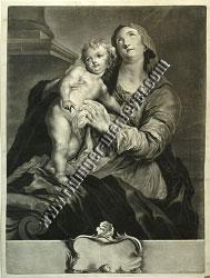 Johann Elias Ridinger, Maria mit dem Kinde an der ionischen Säule