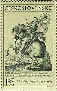 Horses on Stamps - Václav Hollar
