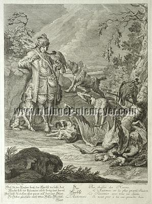 Johann Elias Ridinger, The Autumn of the Hounds