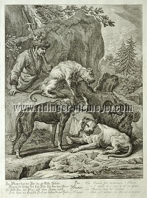 Johann Elias Ridinger, The Winter of the Hounds