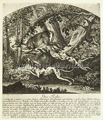 Johann Elias Ridinger, Rehbock