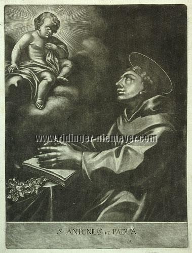 Johann Elias Ridinger, St. Anthony of Padua