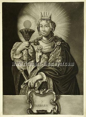 Johann Elias Ridinger, S. Barbara