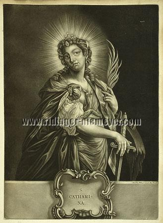Johann Elias Ridinger, S. Catherine