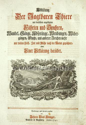 Johann Elias Ridinger, Tracks and Traces