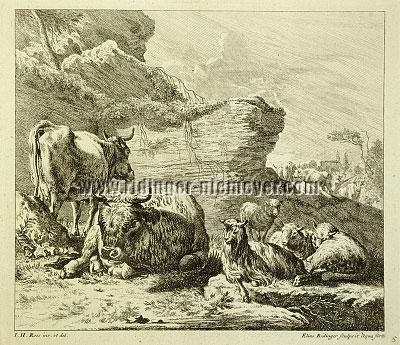 Johann Elias Ridinger, Animal Pieces after Johann Heinrich Roos V