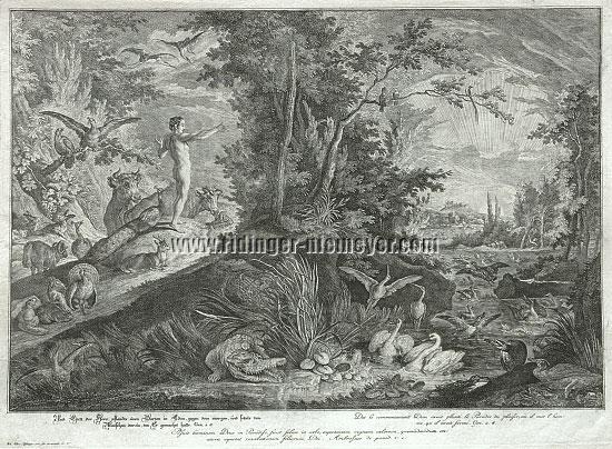 Johann Elias Ridinger, Gott pflanzte einen Garten in Eden