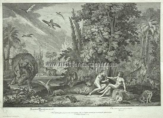 Johann Elias Ridinger, Und gab ihrem Manne auch davon, und er ass