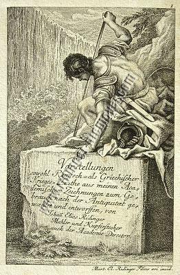 Johann Elias Ridinger, Titelkupfer zur Folge Th. 860-877