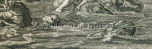 Ridinger' Boar Hound swimming through the River Tigris on Alexander's Campaign against Dareios 331 BC.