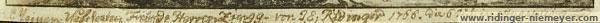 Ridinger (inscription)