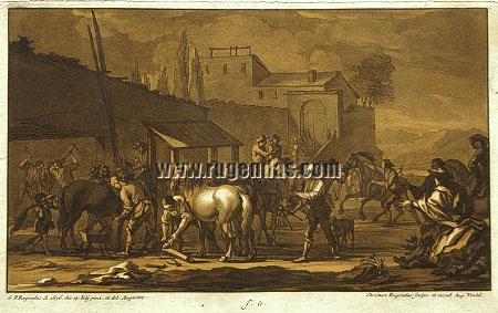 Georg Philipp Rugendas I, Horsemen, Cavalry and Camp Scenes from 1693 to 1705
