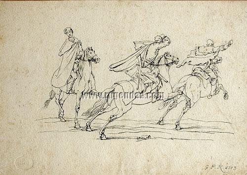 Georg Philipp Rugendas I, Drei Reiter