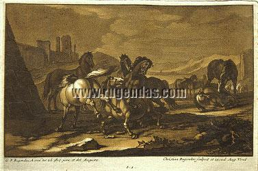 Georg Philipp Rugendas I, Horsemen, Cavalry Battles, and Camp Scenes from 1693-1705
