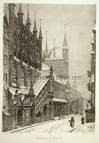 Lübeck, City Hall in Winter