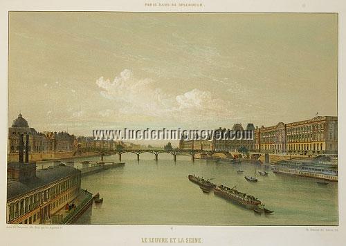 Paris, Louvre et Seine