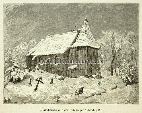 Ferdinand Lindner, Marschkirche auf dem Stedinger Schlachtfeld