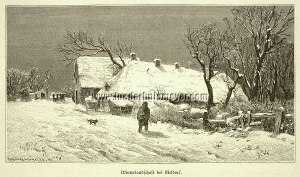 Winterlandschaft bei Meldorf