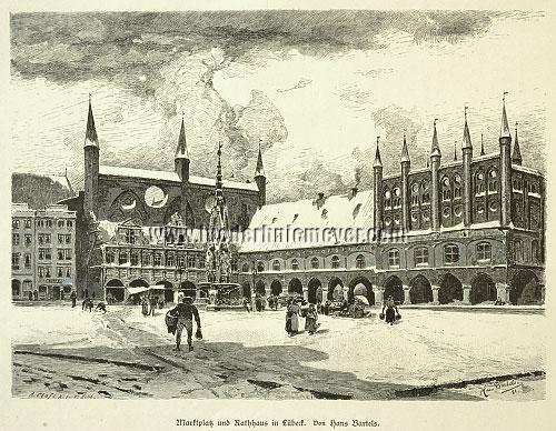 Lübeck, Marktplatz + Rathaus