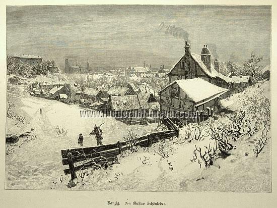 Schönleber, Danzig im Schnee
