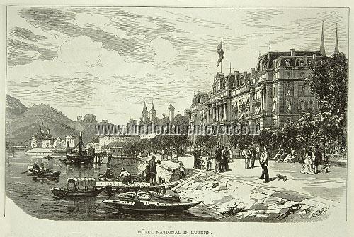 Gustav Bauernfeind, Luzern, Hotel National