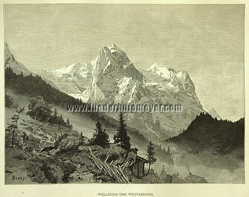 Andreas Eduard Disen, Wellhorn and Wetterhorn