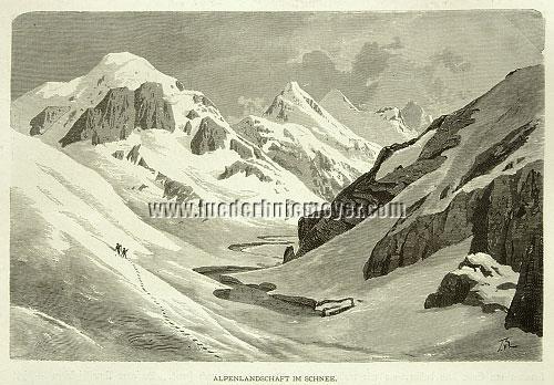 Eckenbrecher, Alpenlandschaft im Schnee