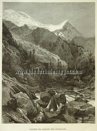Arthur Calamé, Glacier of Bossons and Montblanc