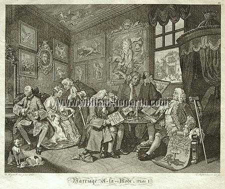 William Hogarth, The Marriage Contract (Riepenhausen)