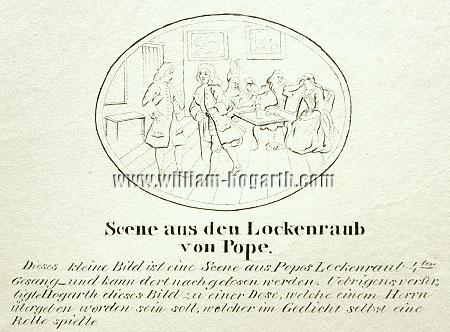 William Hogarth, Rape of the Lock (lithograph)