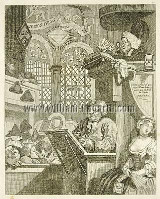 William Hogarth, Sleeping Congregation (Rahl)