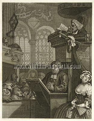 William Hogarth, Sleeping Congregation (Riepenhausen)