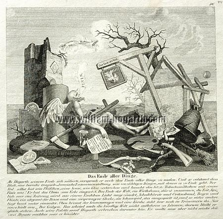 William Hogarth, Tail Piece or The Bathos (lithograph)
