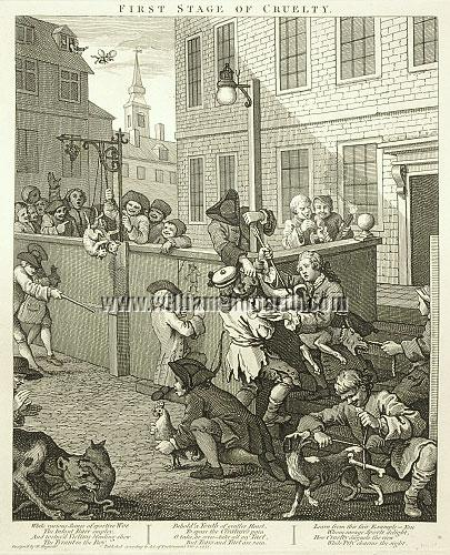 William Hogarth, Cruelty to Animals in London Streets