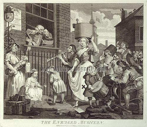 William Hogarth, Enraged Musician (Cook)