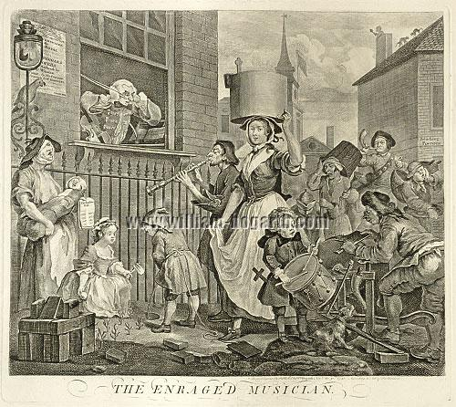 William Hogarth, Enraged Musician