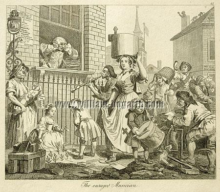 William Hogarth, Enraged Musician (Rahl)