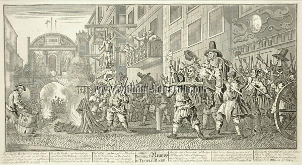 William Hogarth, Hudibras burning Rumps at Temple Bar
