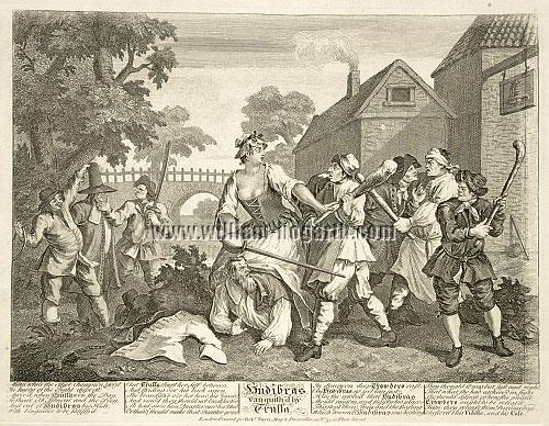 William Hogarth, Hudibras vanquished by Trussa (Trulla)