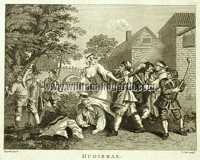 William Hogarth, Hudibras vanquished by Trussa (Cook small)
