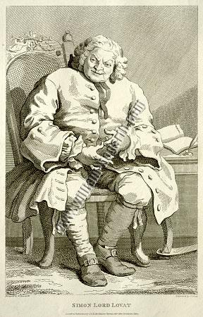 William Hogarth, Simon Lord Lovat (Cook)