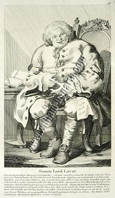 William Hogarth, Simon Lord Lovat (Lithographie)