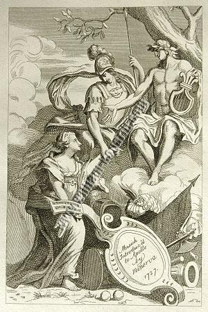 William Hogarth, Musick Introduc'd to Apollo by Minerva