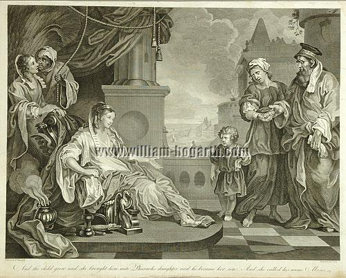 William Hogarth, Moses brought to Pharaoh's Daughter (Cook)