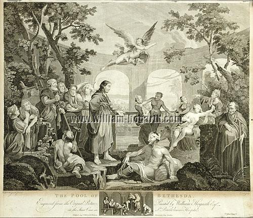 William Hogarth, Pool of Bethesda (Cook)